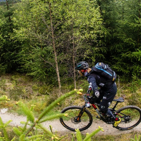 Mountain biking in Innerleithen and the golf